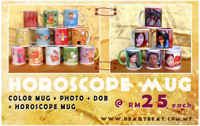 Horoscope Mug - Birthday Gift - HeartBeat.my