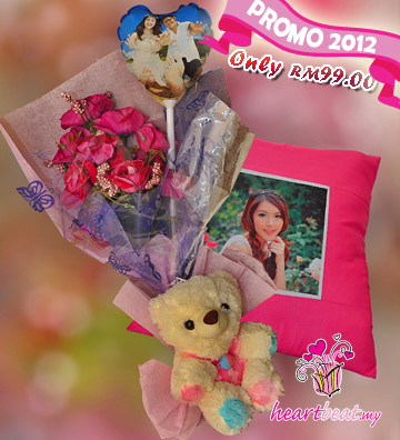 Cushion, Flower, Teddy Bear & Photo Balloon @ Only RM99
