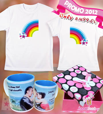 Couple Mug, Couple Tee & Gift Box @ Only RM99
