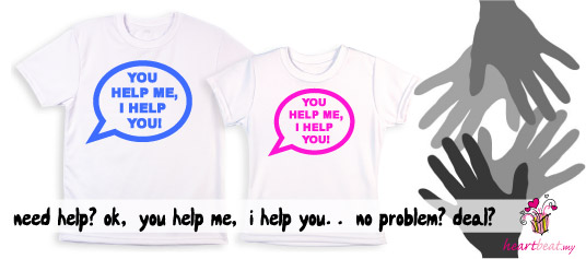 Message Tee - You Help Me, I Help You